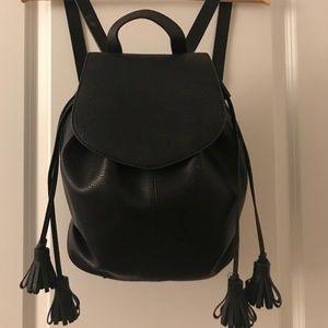 Like New Black Leather Zara Backpack